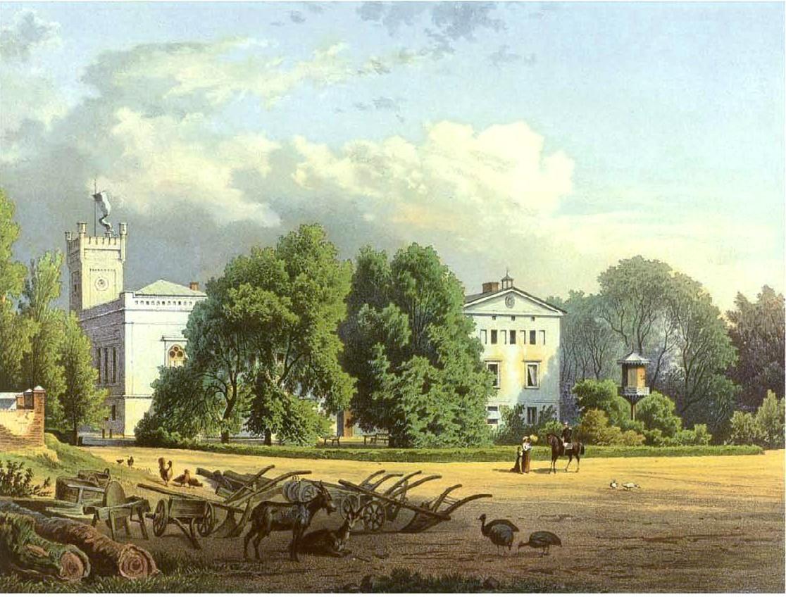Schloss Gallowitz um 1860, Sammlung Duncker