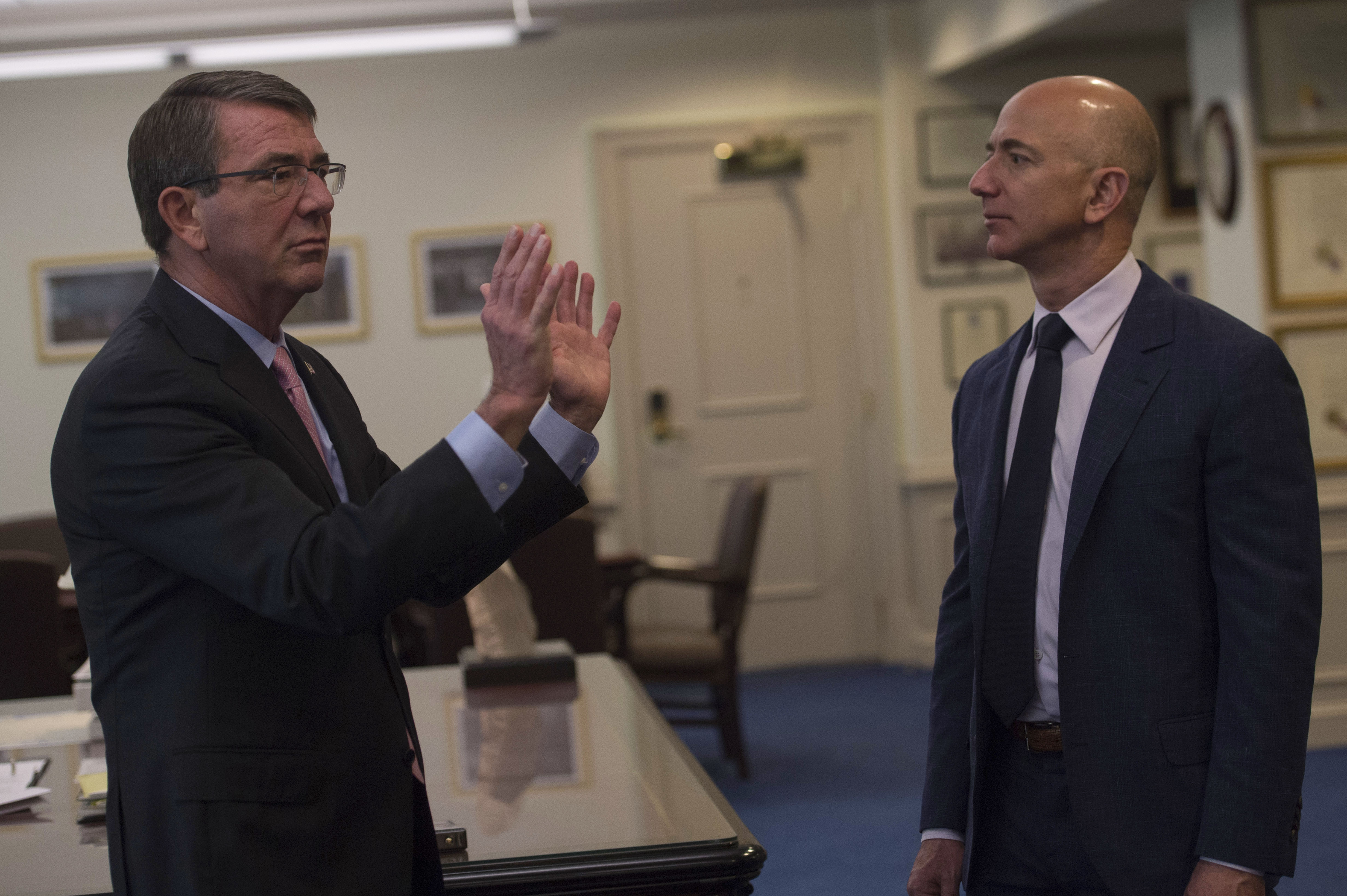 File:Secretary of Defense Ash Carter meets with Jeff Bezos ...