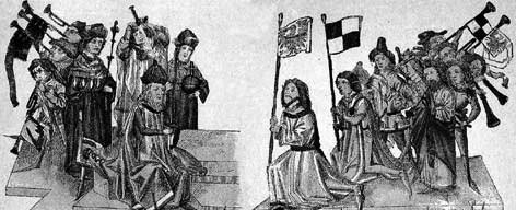 Sigismund fees the land Brandenburg to Frederik, April 30, 1415.jpg
