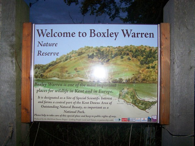 Sign about Boxley Warren - geograph.org.uk - 1033122