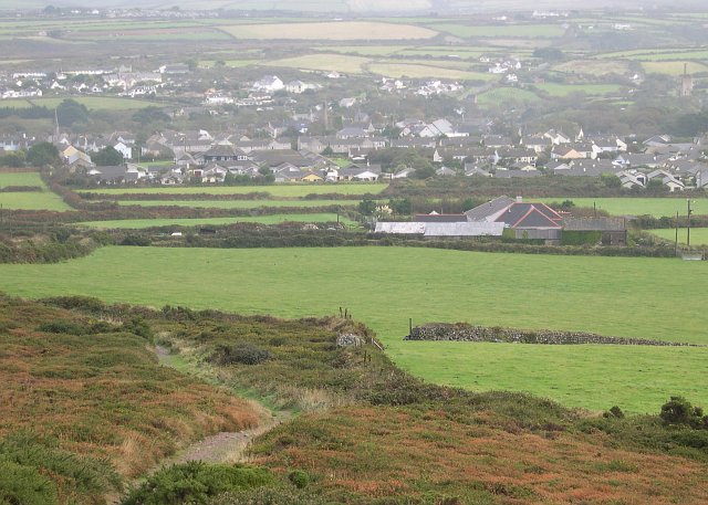 St Agnes from St Agnes Beacon - geograph.org.uk - 68811