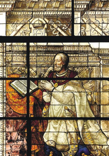 Fichier:Stained glass François Ier de France MNR Écouen.jpg