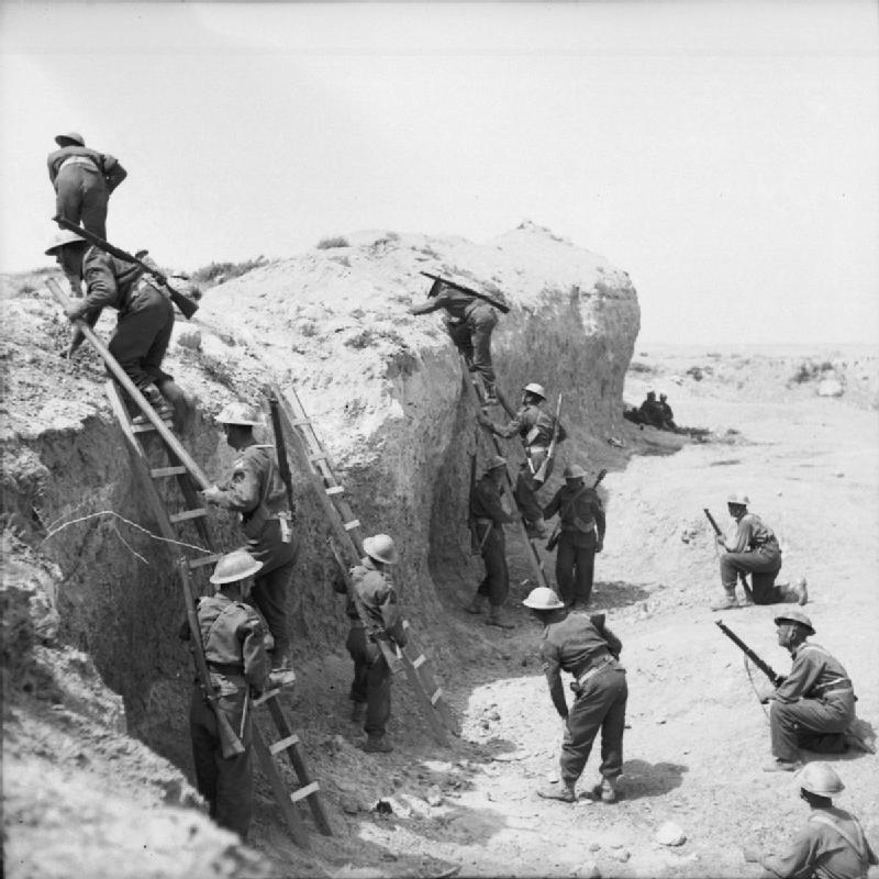 معركة خط مارث ........Battle of the Mareth Line The_British_Army_in_Tunisia_1943_NA1511