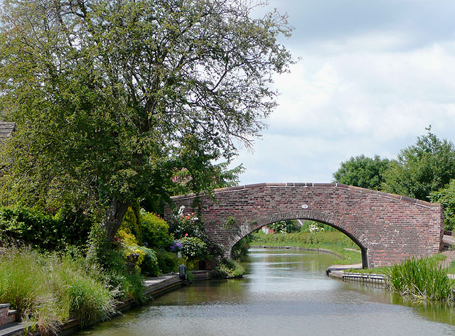 The Coventry Canal and Bridge No 70, near Bolehall, Staffordshire - geograph.org.uk - 1157776