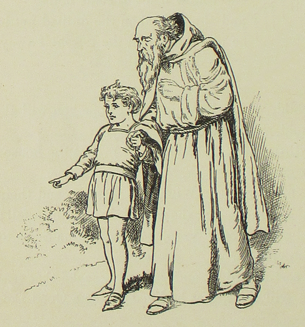 File:The Trinity Flower pg 100 the hermit and a boy png