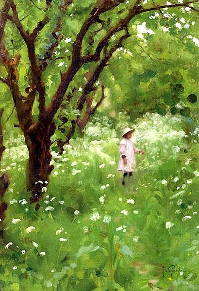 Файл:Thomas Cooper Gotch - The Orchard 1887.jpg