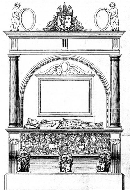ŒUVRES CHRÉTIENNES DES FAMILLES ROYALES DE FRANCE - (Images et Musique)- année 1870  Tombeau_Louis_le_Pieux