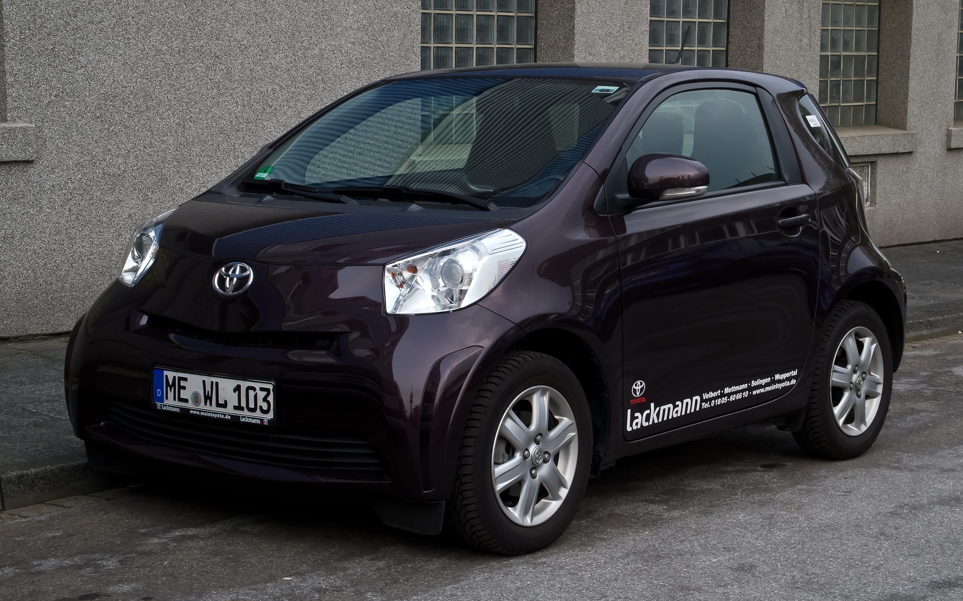 File Toyota Iq 1 0 Frontansicht 3 April 2012 Velbert