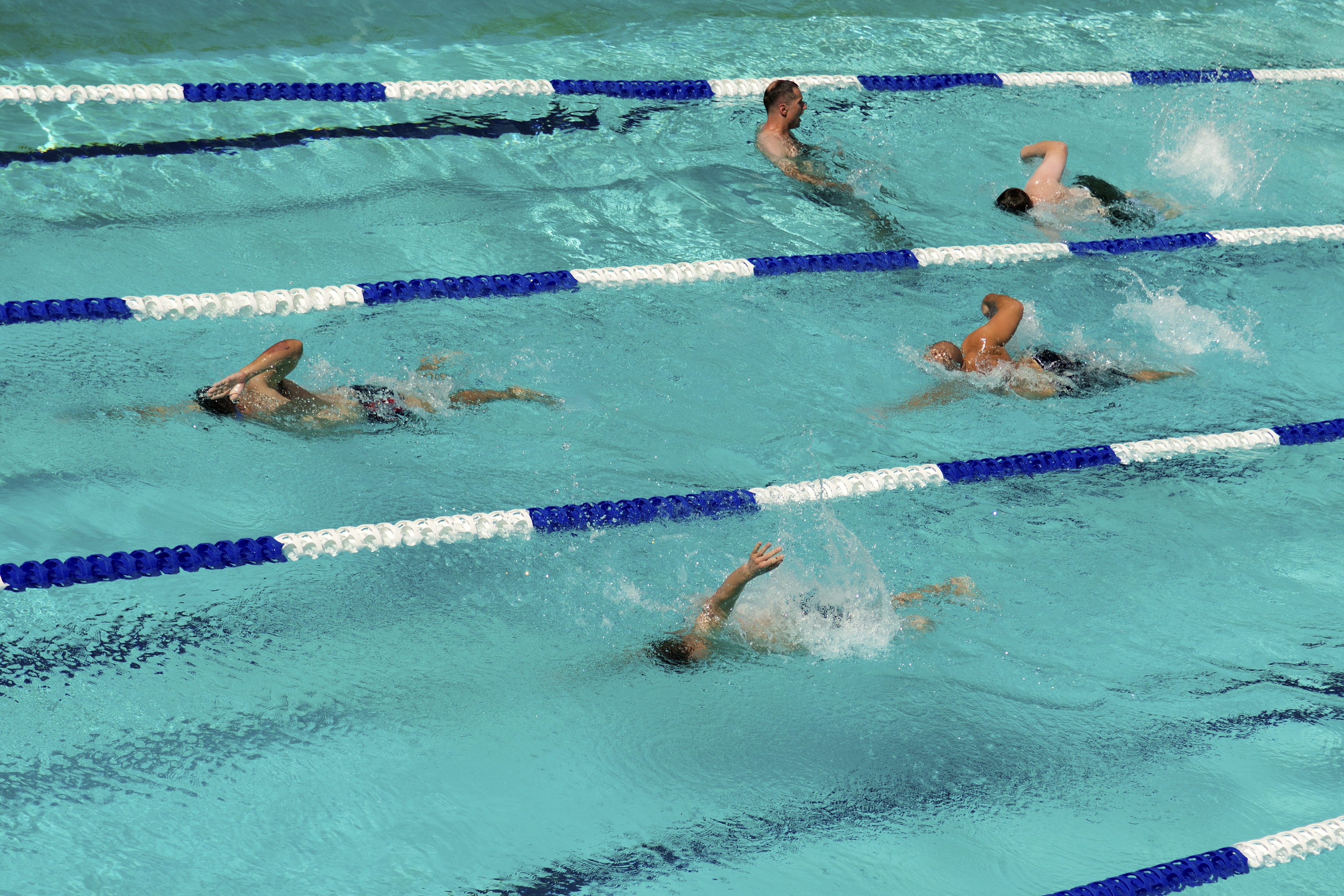 Fileus Navy And Coast Guard Athletes Swim During Wounded Warriors