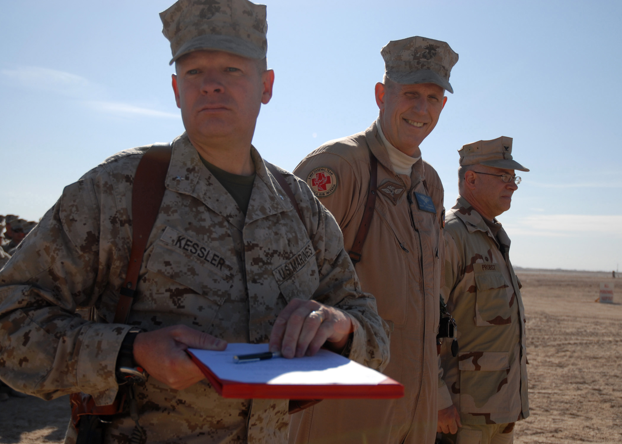 signed Beneficial Occupancy Date letter, officially opening the newly renovated runway at Camp Taq.jpg English: AL TAQADDUM, Iraq (Jan. 8, 2008) Marine