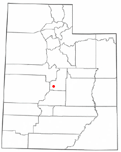 Location of Gunnison, Utah