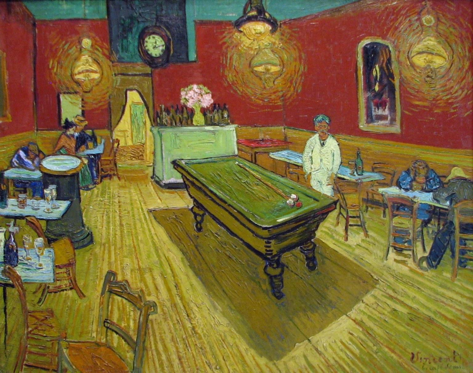 Ночное кафе, 1888 (интерьер кафе
