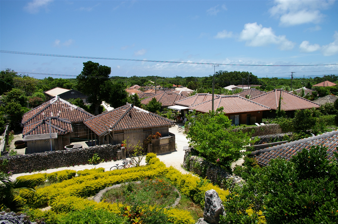 Village in taketomi island   located at southwest japan