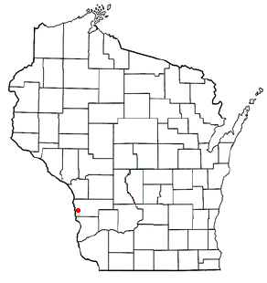 Location of Genoa (town), Wisconsin