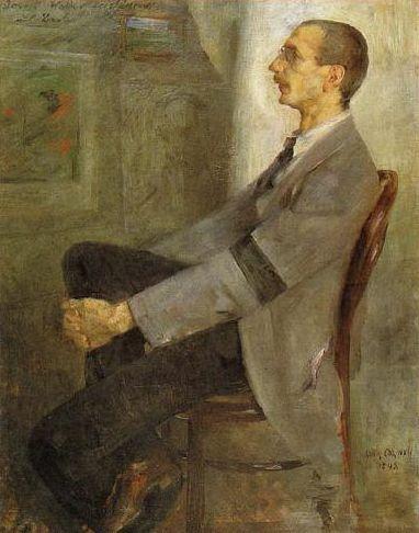 Wikipedia.de. Leistikow portrettert av Lovis Corinth, 1893