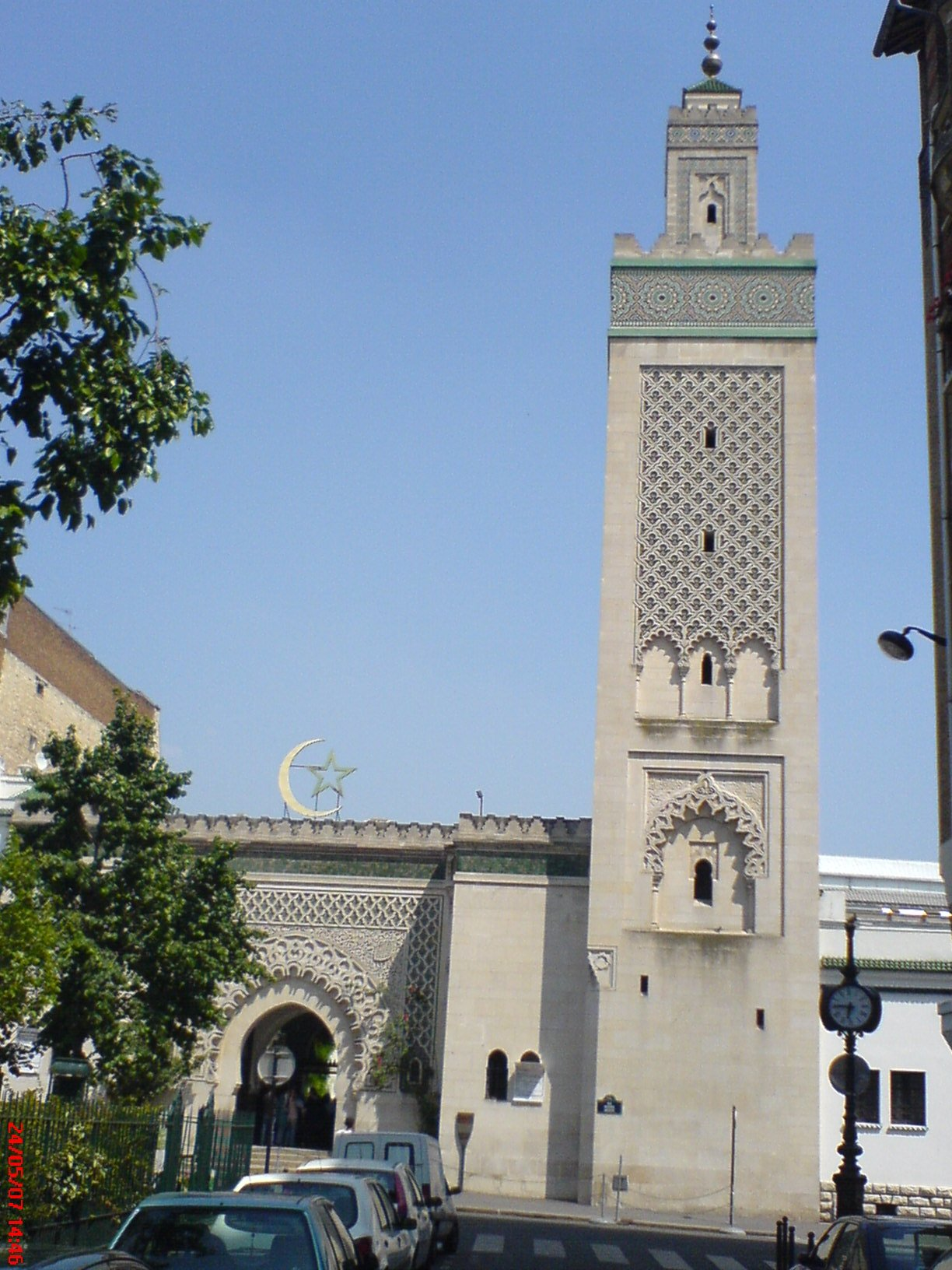Description صومعة مسجد باريس 001