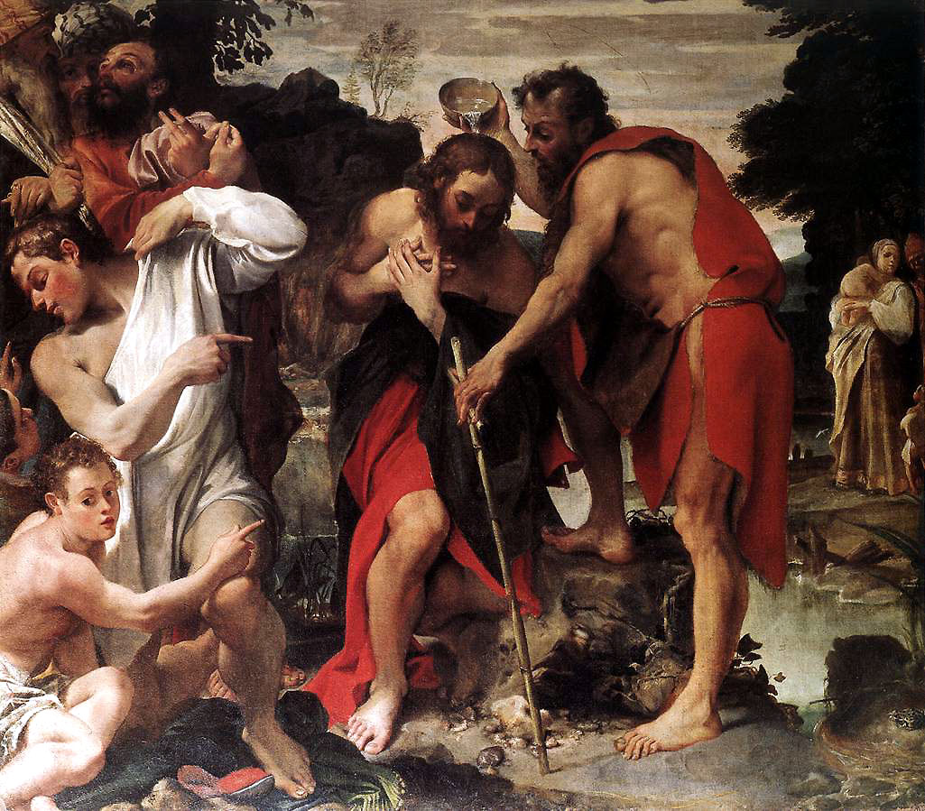 Image result for baptism of christ carracci