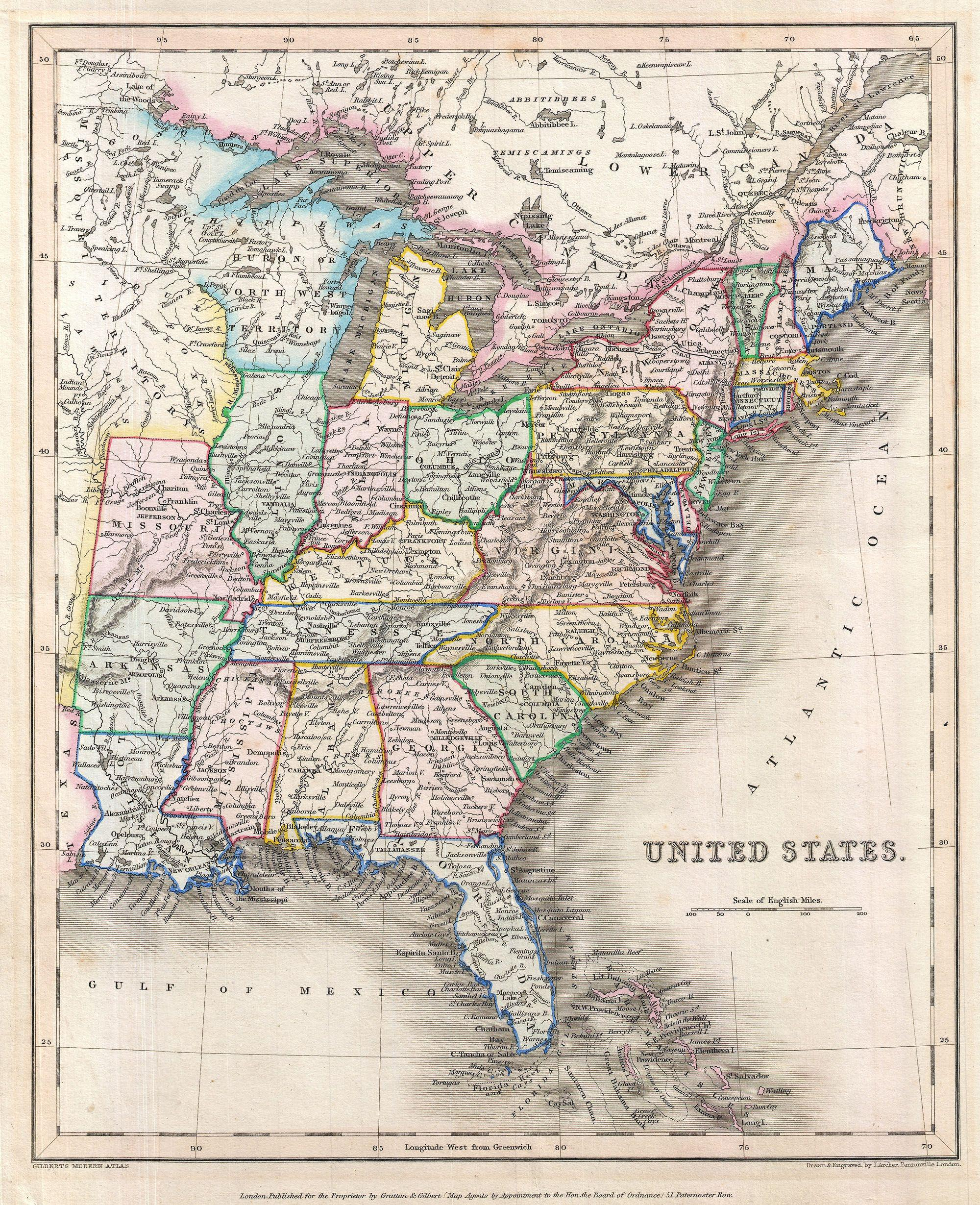 File1843 Gilbert Map of the United States Geographicus
