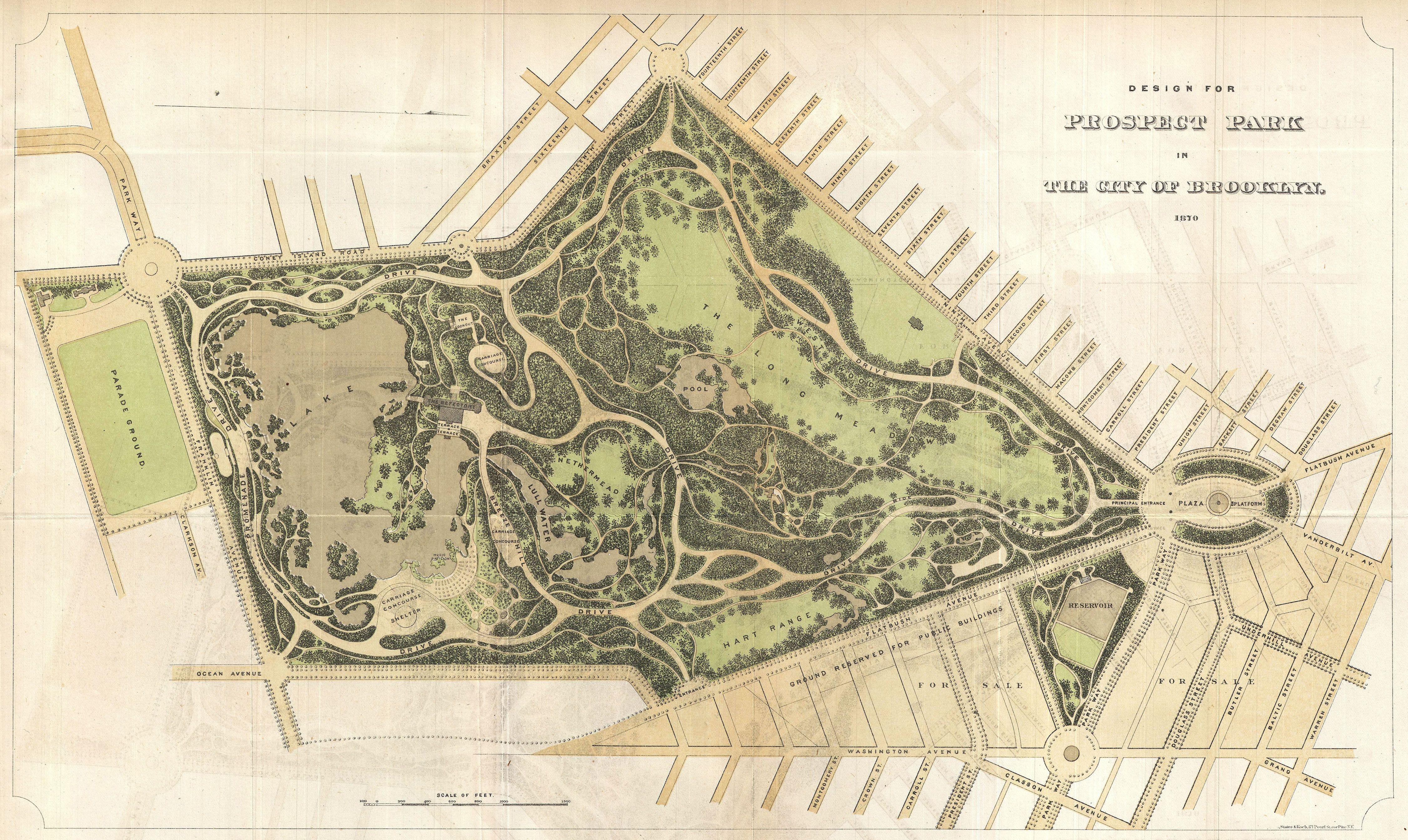 file 1870 vaux and olmstead map of prospect park brooklyn new
