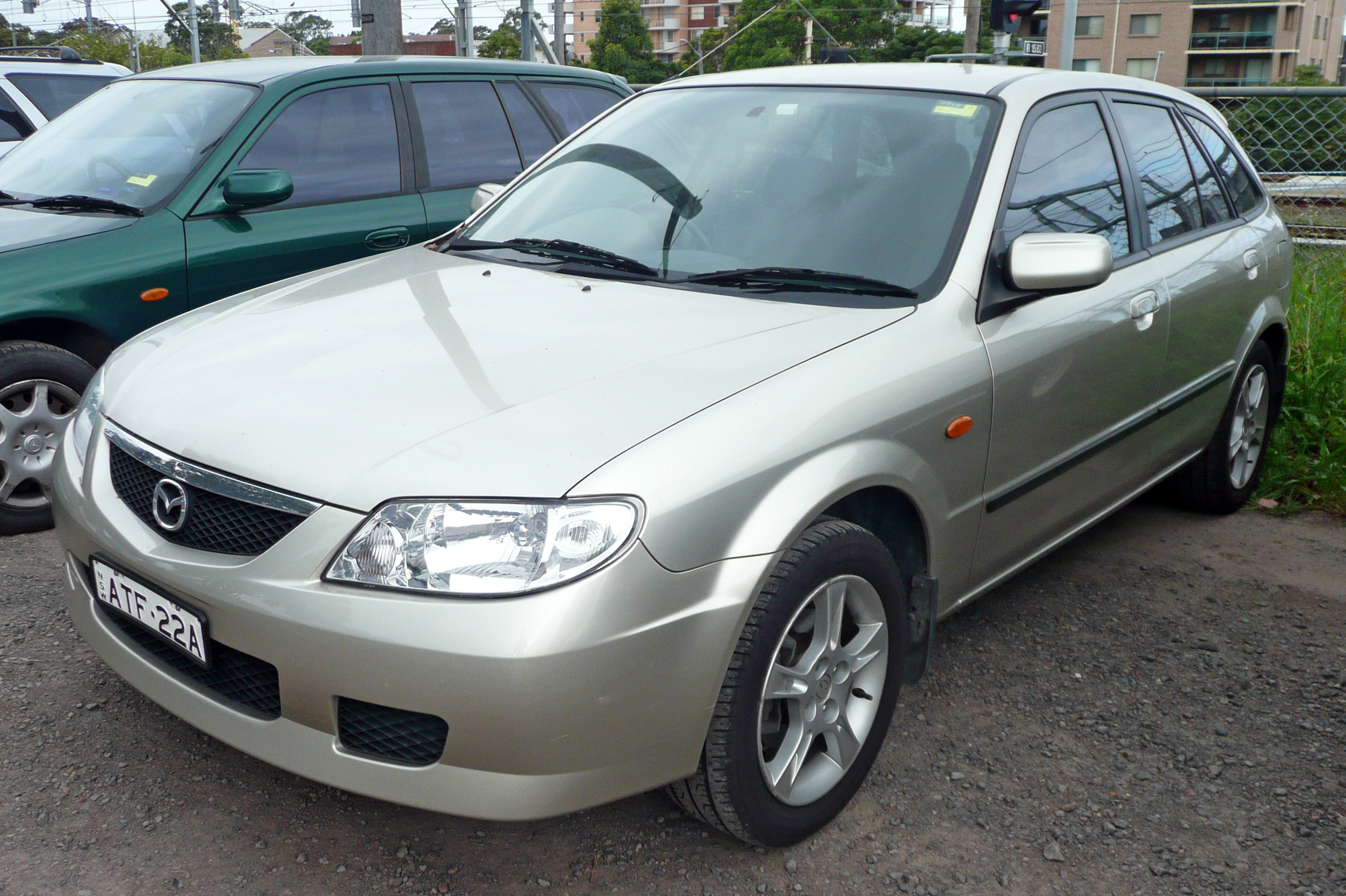 file 2003 mazda 323 bj ii astina shades 5 door hatchback wikimedia commons