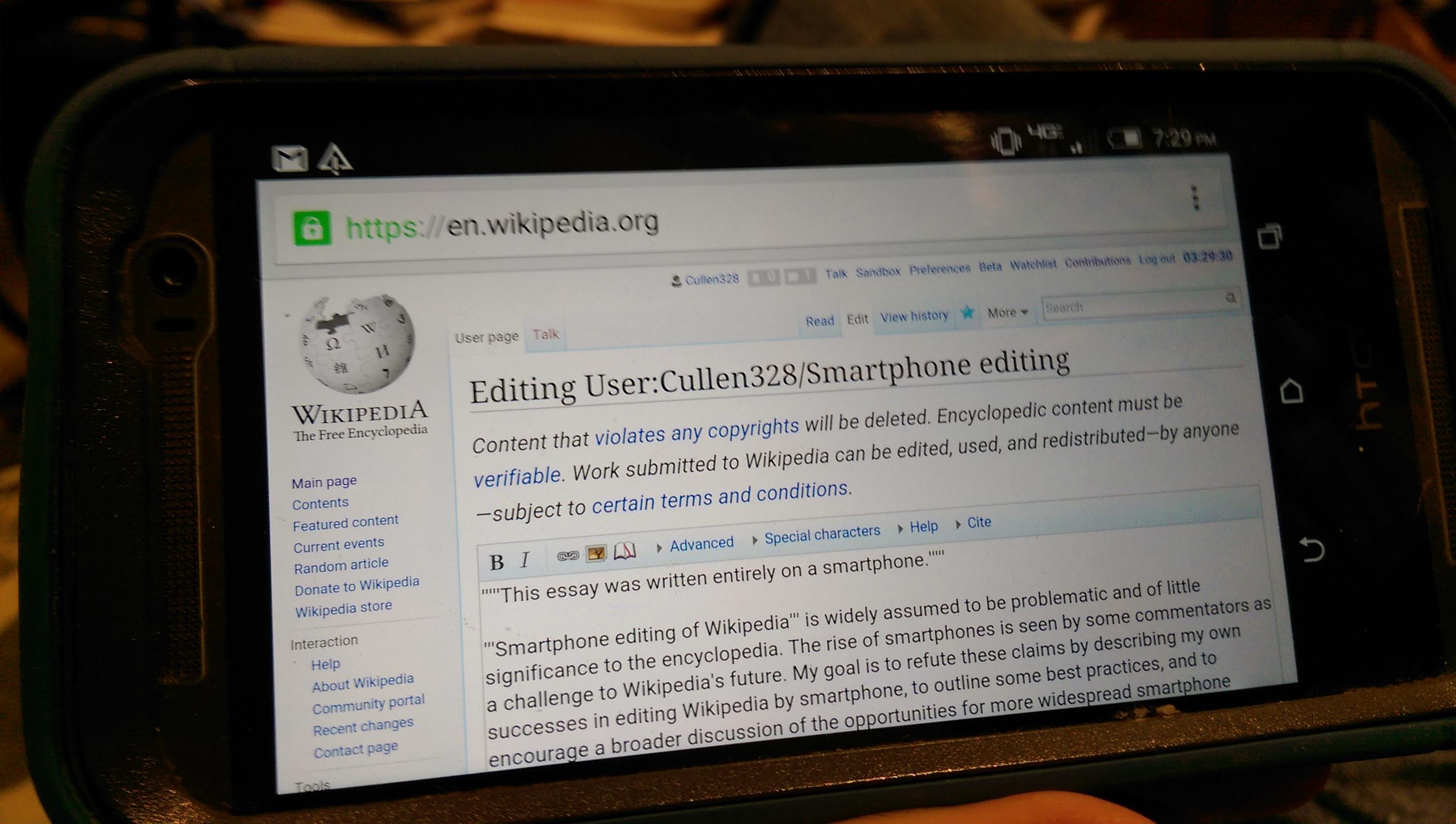 File:2015 Wikipedia smartphone editing 2 jpg - Wikimedia Commons