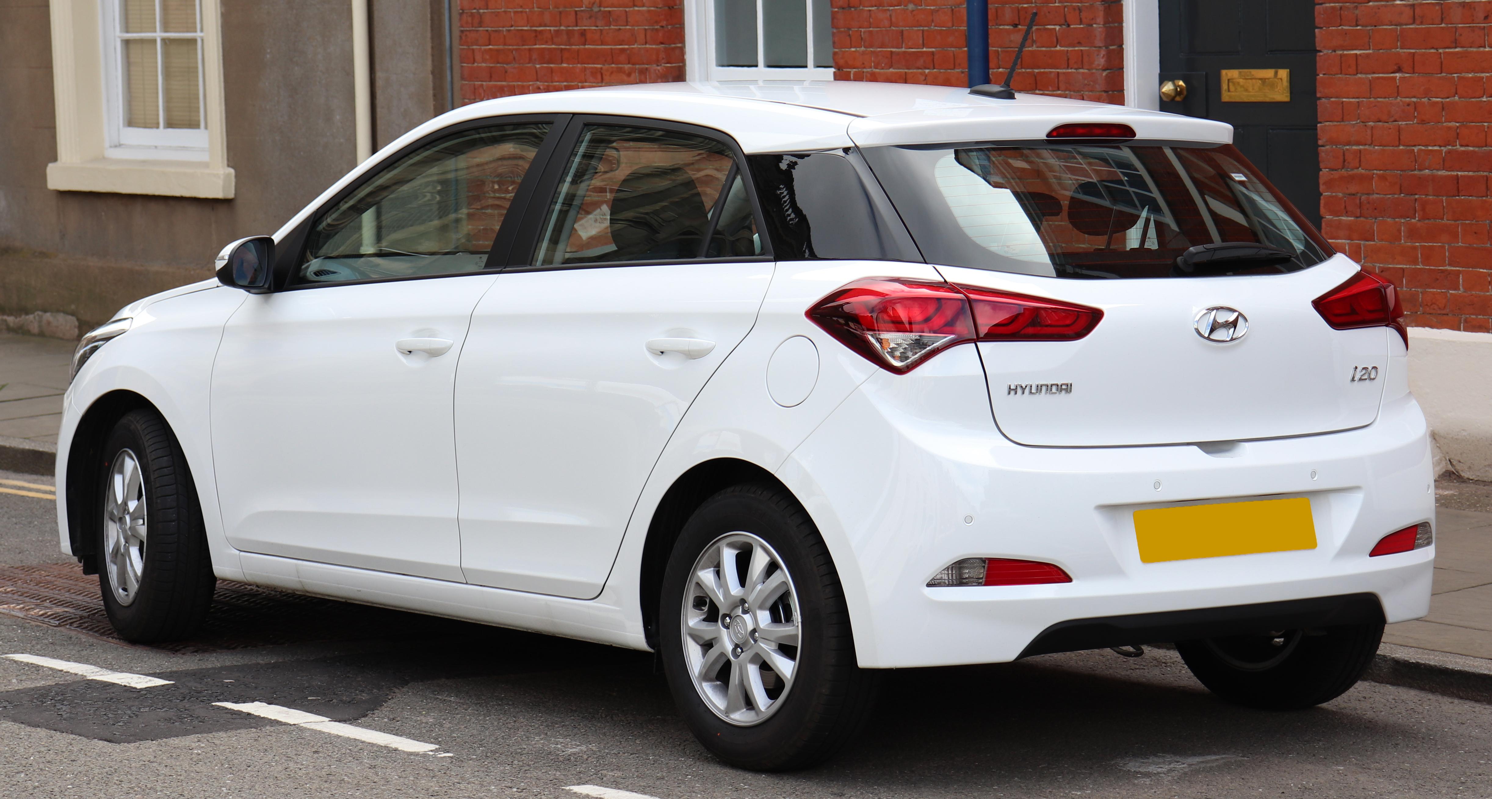 File:2018 Hyundai i20 SE MPi 1.2 Rear.jpg