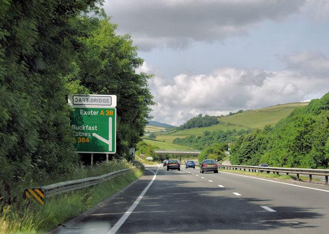 File:A38, Buckfastleigh - geograph.org.uk - 1367438.jpg