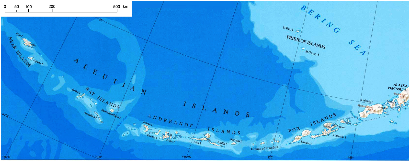 File Aleutian Islands Map Nationalatlas Jpg Wikimedia Commons