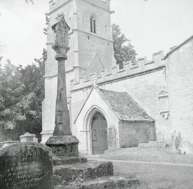 Ampney Crucis Holy Rood Church Churchyard Cross