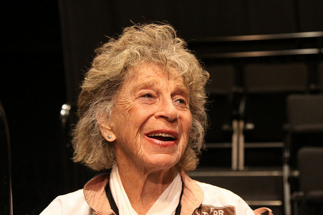 Anna Halprin at the ''[[University of San Francisco]]'' November 2010.