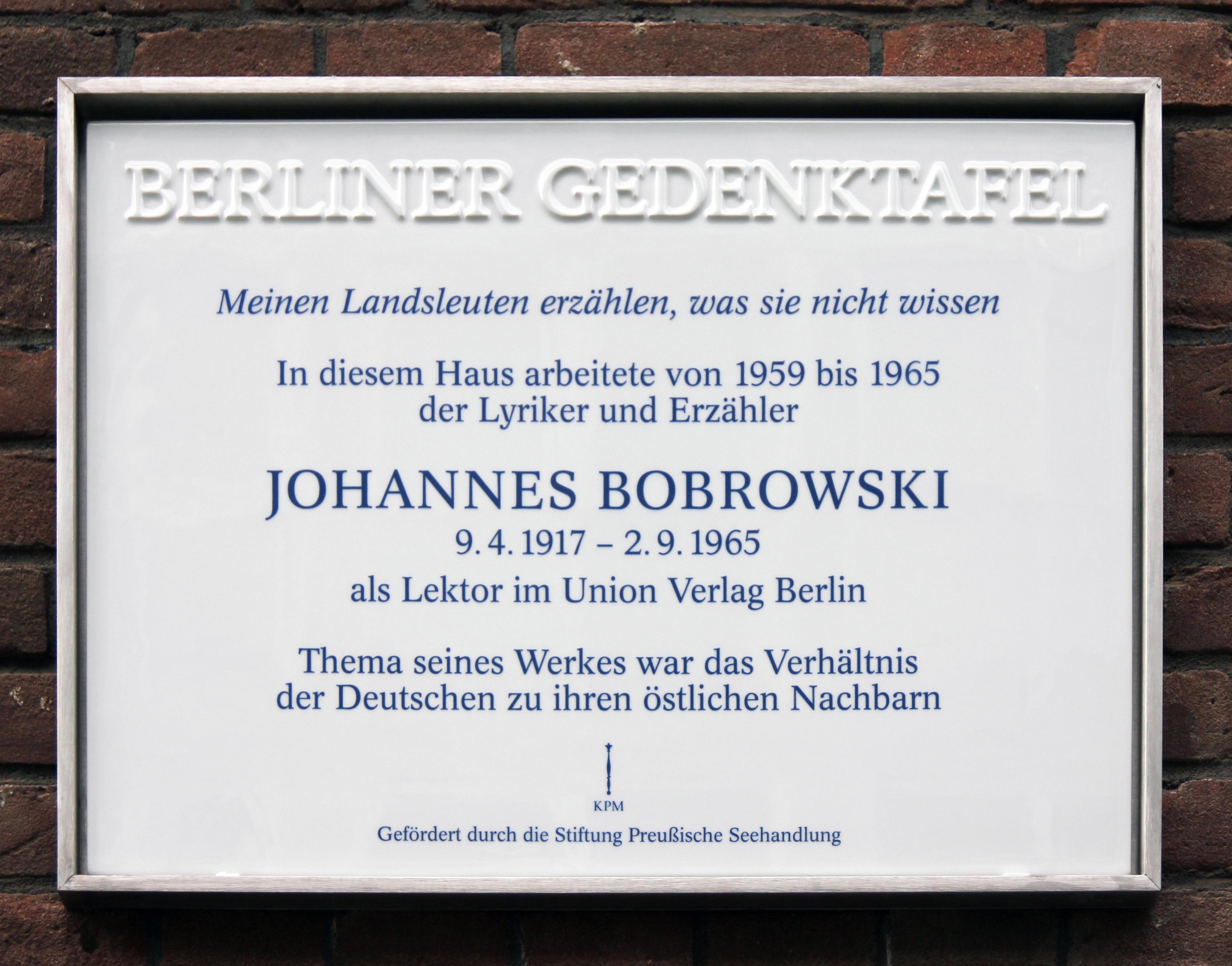 Johannes Bobrowski Wikipedia