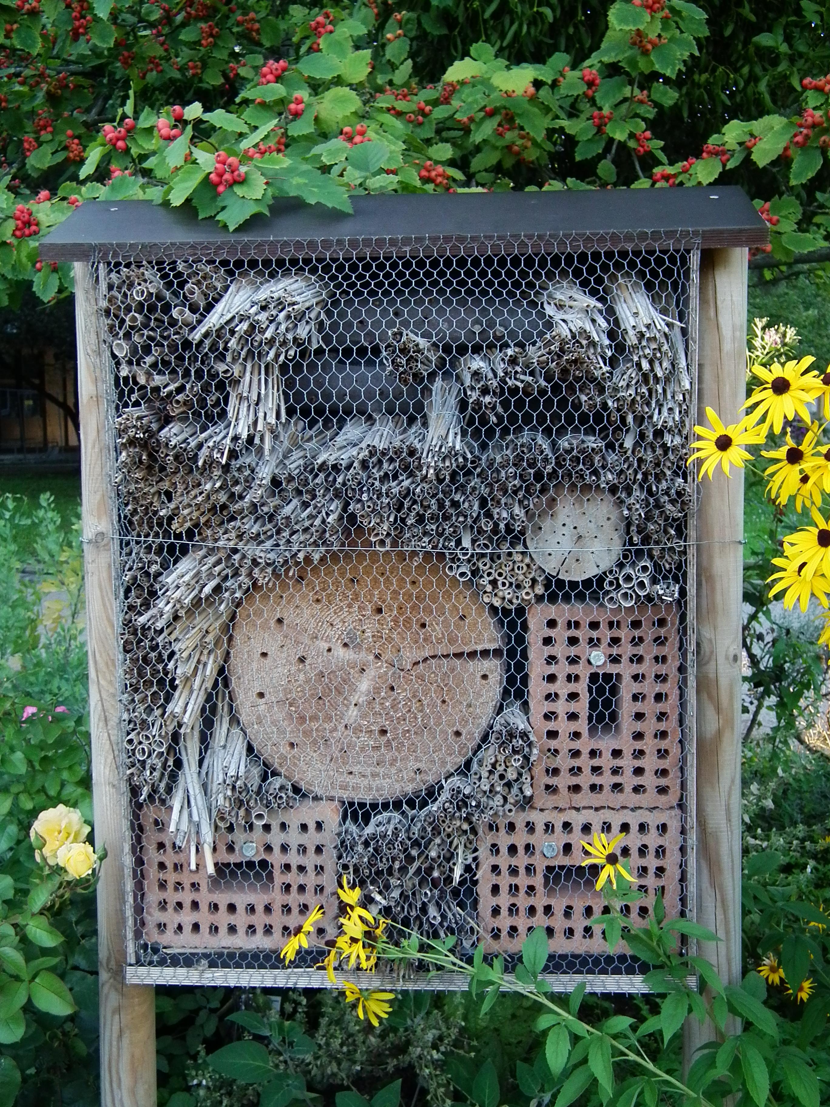Zelf een insectenhotel maken leuk om te doen goed voor for Kleine vijverfilter zelf maken