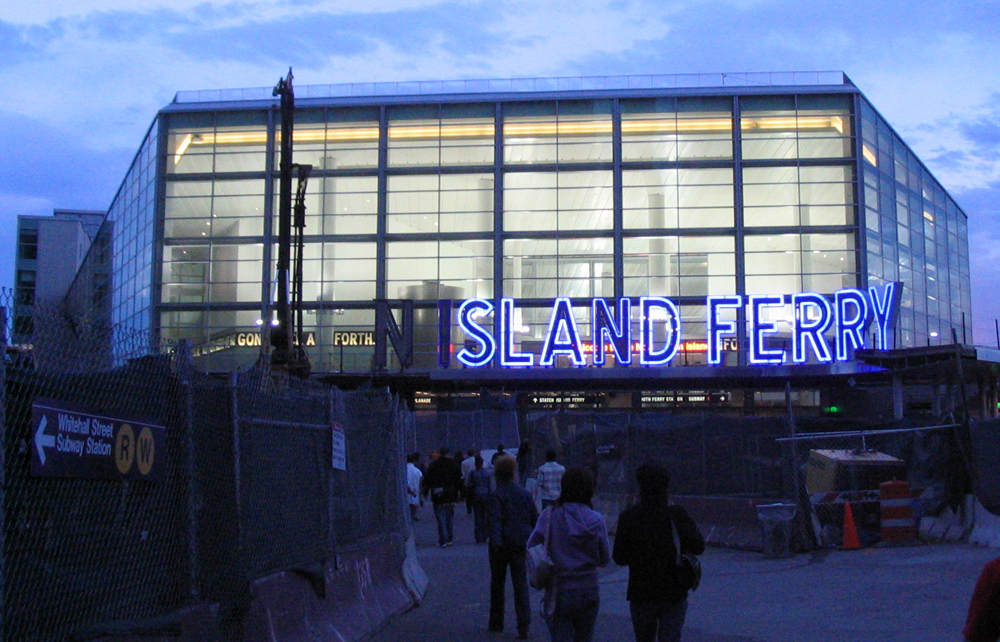 how to get to staten island ferry by train