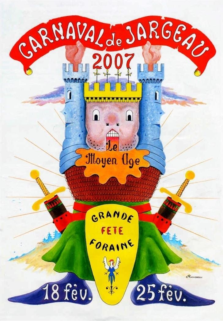 CARNAVAL Carnaval_de_Jargeau_2007_Affiche_Le_Moyen-Age