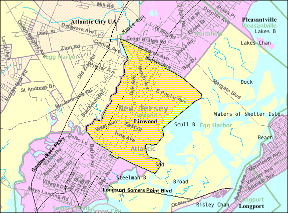 FileCensus Bureau Map Of Linwood New Jerseypng