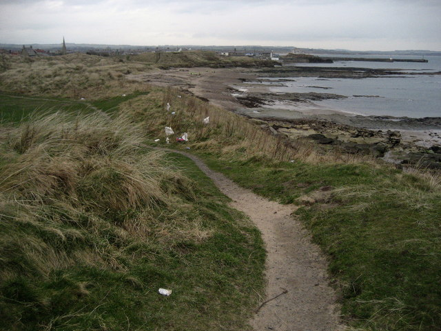 Coast Path approaching Amble - geograph.org.uk - 1198227