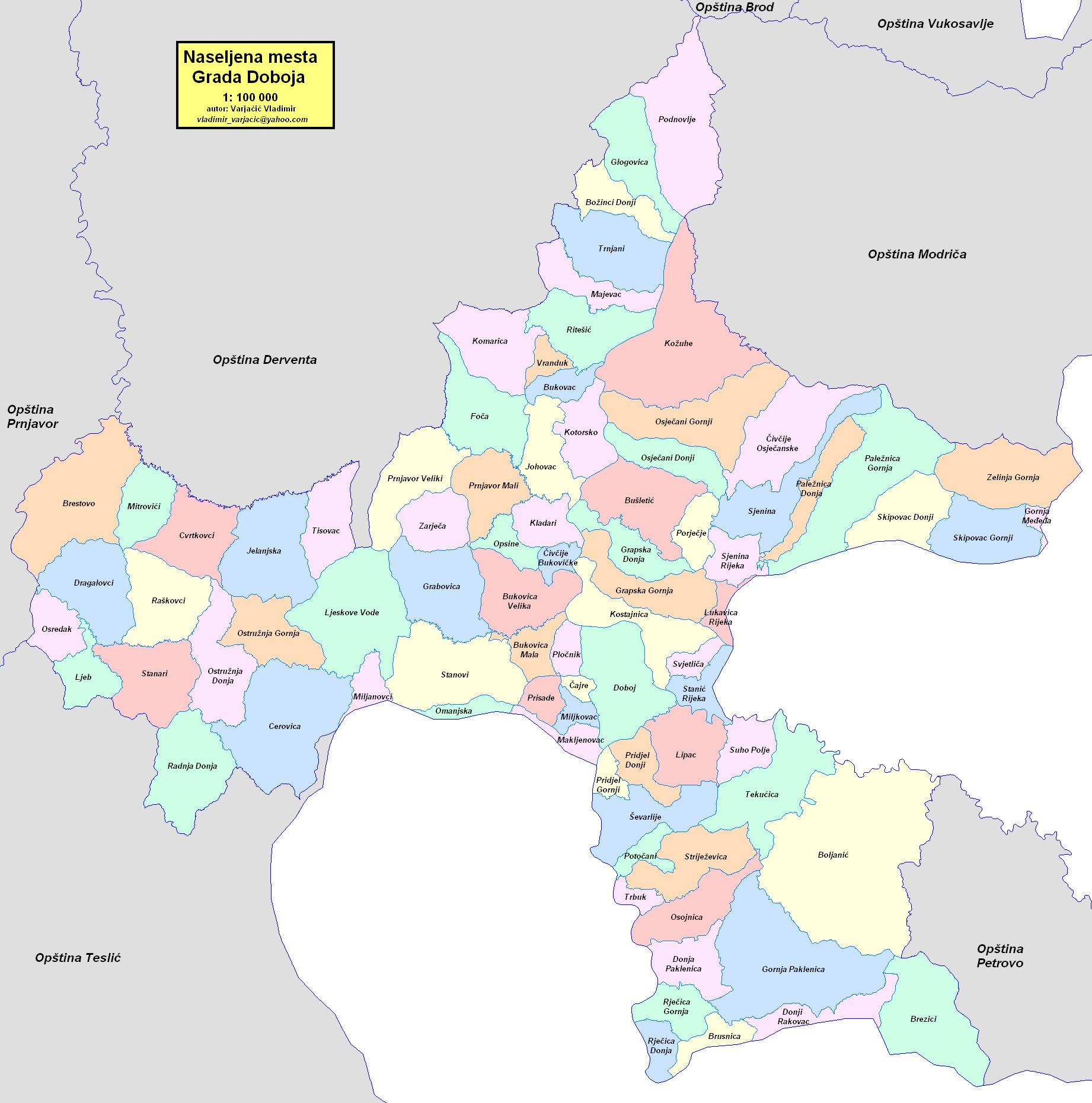 doboj mapa ملف:Doboj naselja2014.png   ويكيبيديا، الموسوعة الحرة doboj mapa
