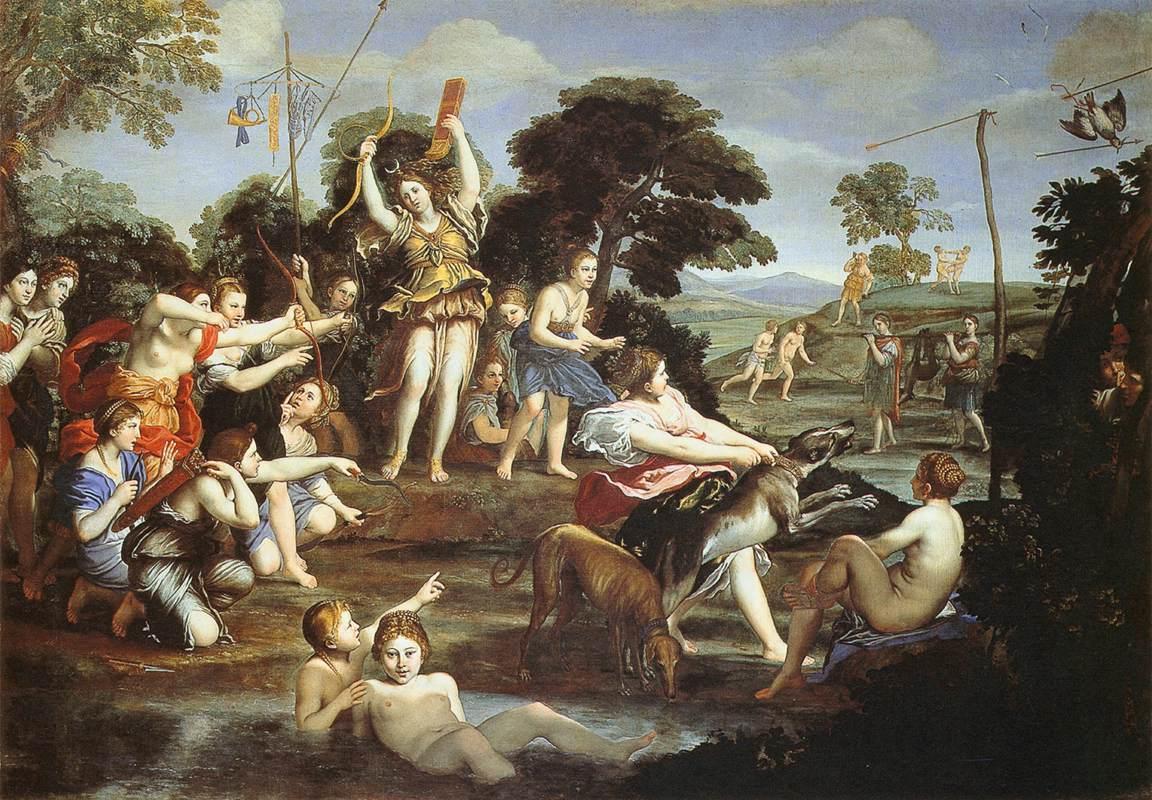 Domenichino - Diana and her Nymphs, 1616-17