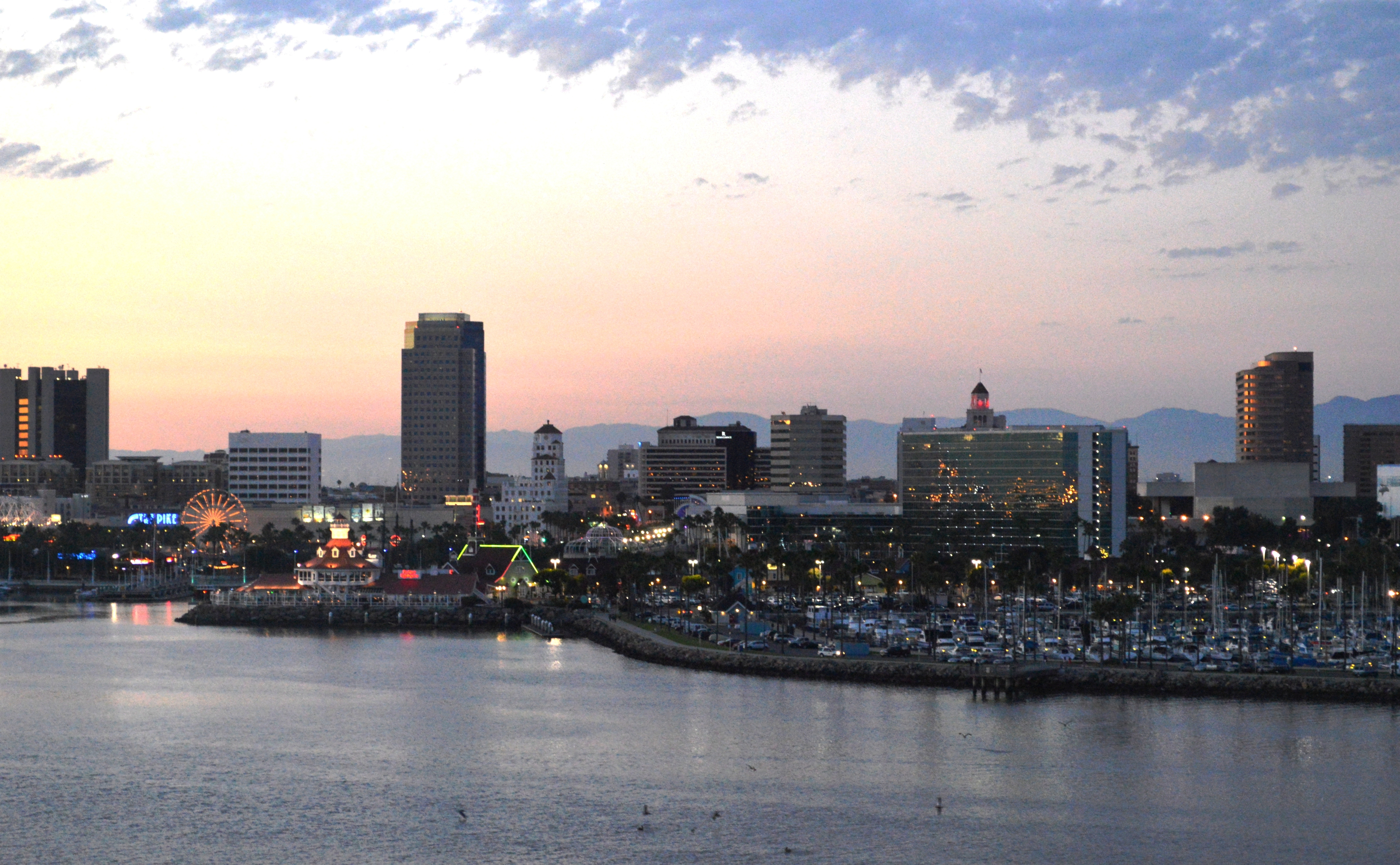 File:Downtown, Long Beach From Queen Mary (Dusk).JPG