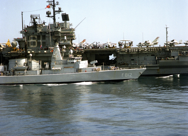 file dutch frigate f812 jacob van heemskerck operates alongside the aircraft carrier uss ranger