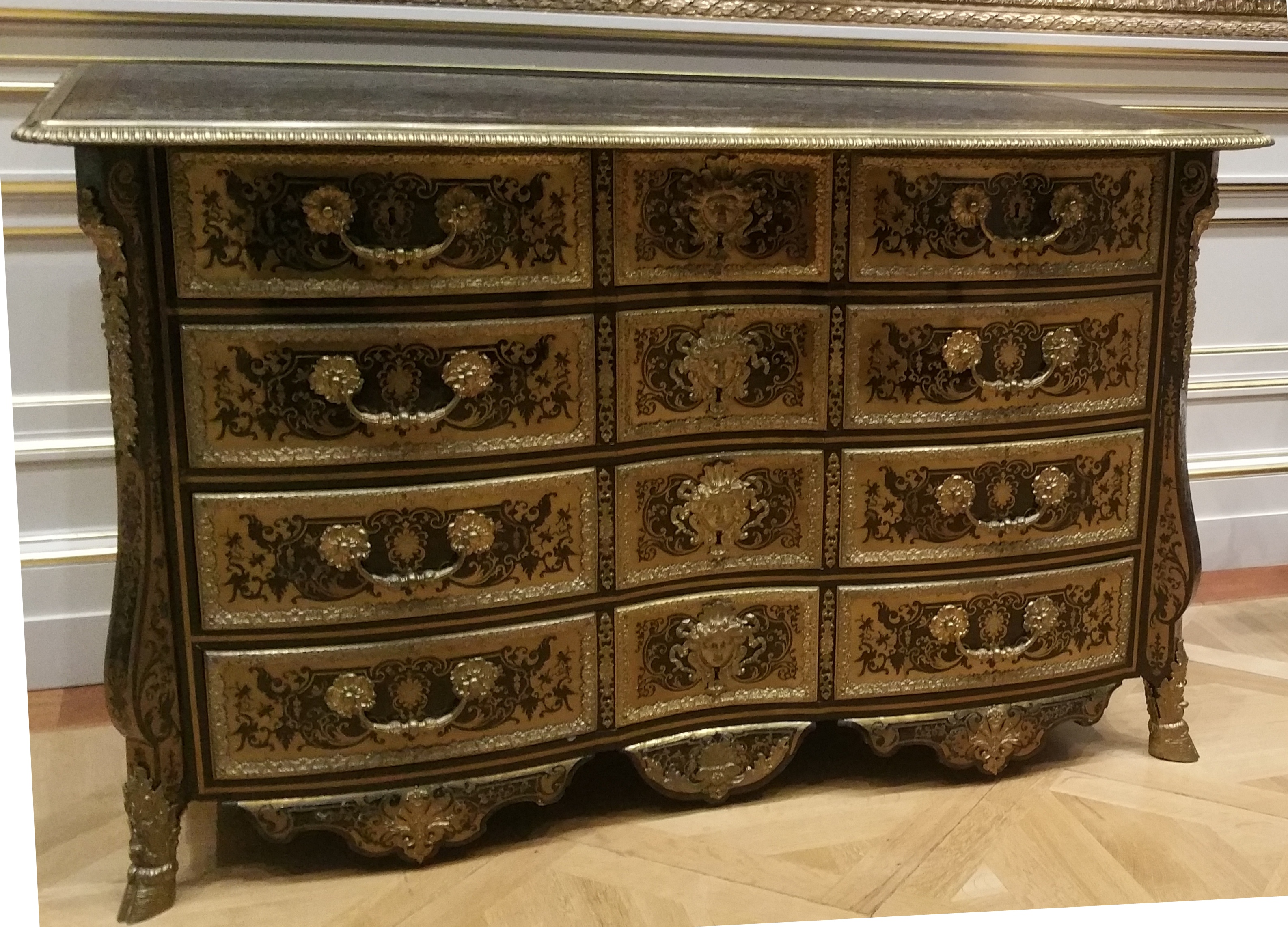 100 bureau louis xv boulle meubles french 19th for Bureau meuble wikipedia