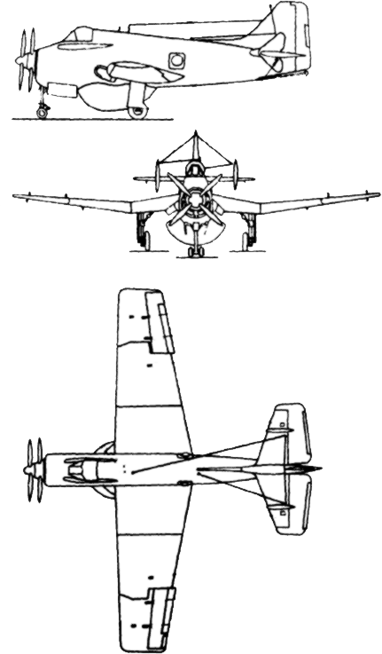 Fairey Gannet AEW3 3 side drawing.PNG