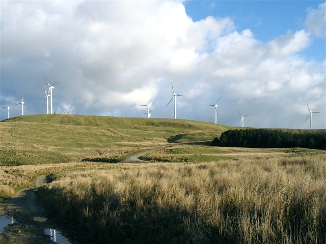 Ffynnon Oer wind farm - geograph.org.uk - 739361