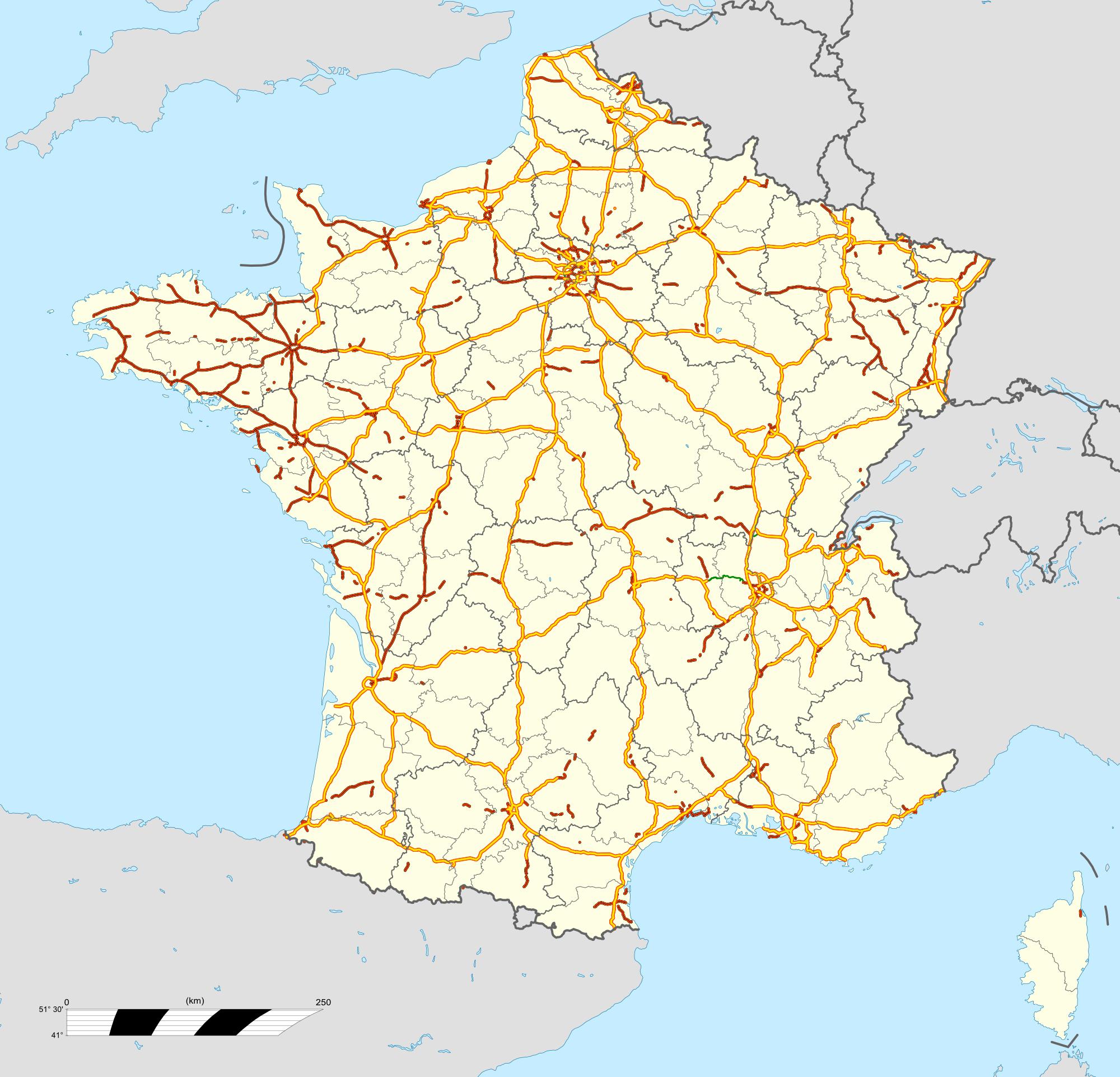 carte de france des autoroutes File:France autoroutes map fr.png   Wikimedia Commons