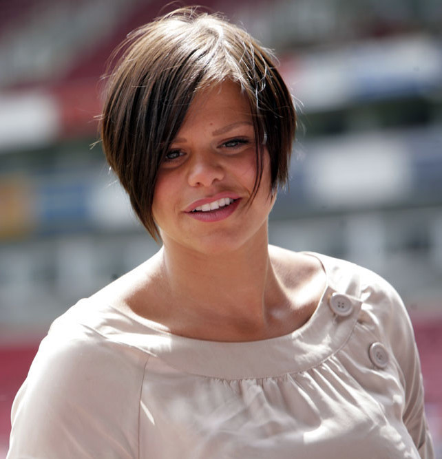 Jade Goody, in happier times at the height of her celebrity, at Soccer Six Music Industry charity football event at Upton Park stadium in London - May 2007