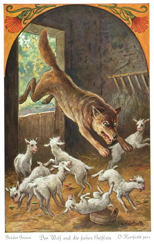 36 der wolf und die sieben geißlein ausmalbild  besten