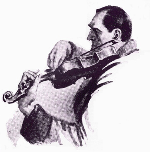 Holmes playing violin