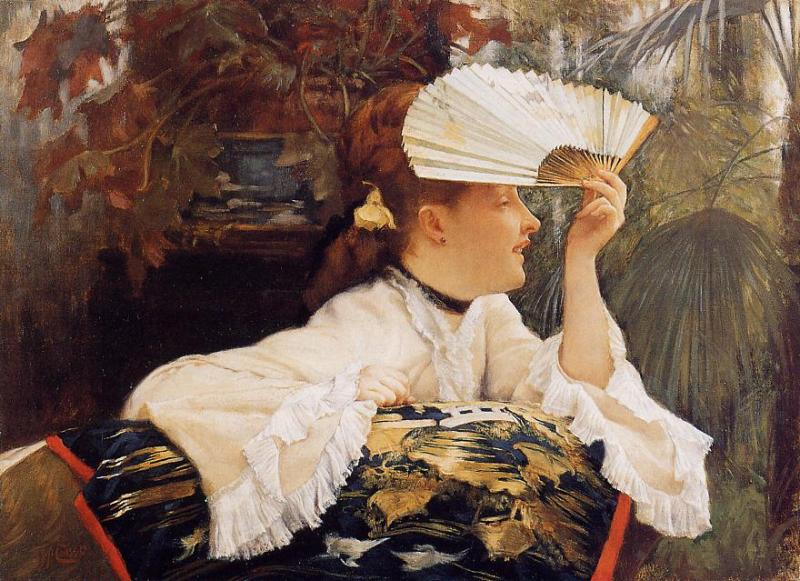 James Tissot - The Fan