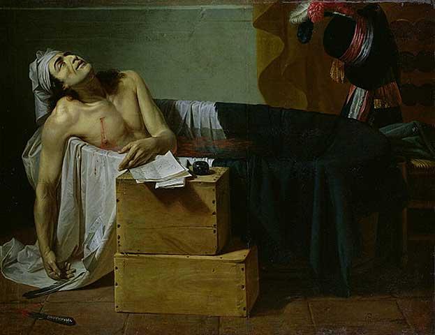 Joseph Roques - La mort de Marat - 1793