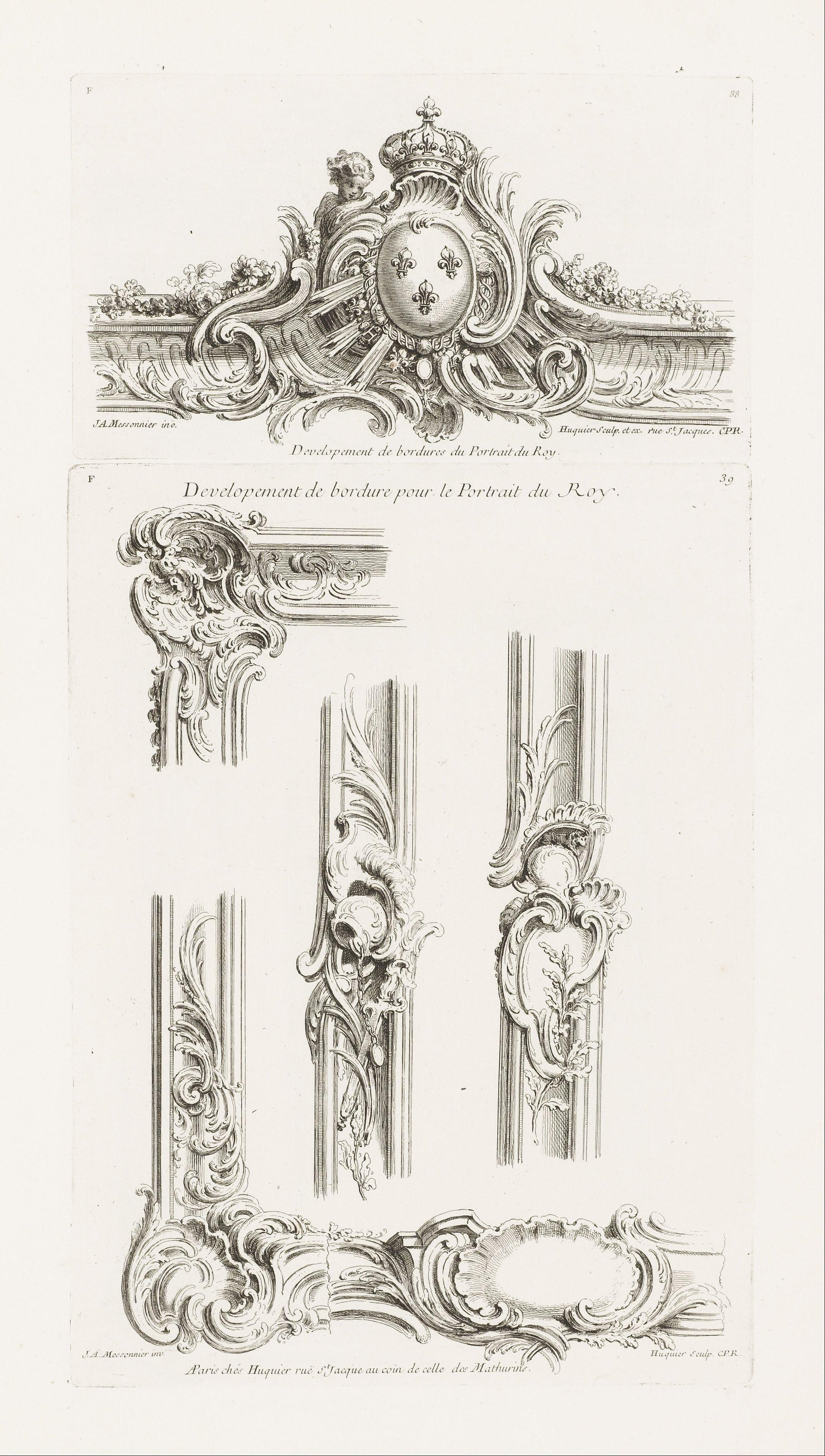 File:Juste-Aurèle Meissonnier - Design of Cartouche with ...